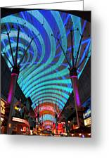 Fremont Street Experience Two Greeting Card