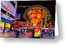 Fremont Street Lights 2 Greeting Card