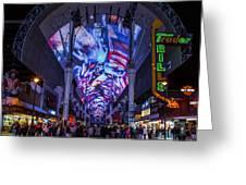 Fremont Street Lights Greeting Card