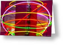Fremont Street Neon Sphere Greeting Card