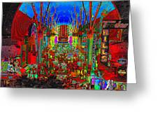 Fremont Street Poster Work C Greeting Card