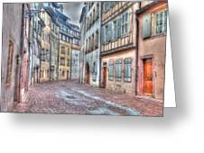French Alley Greeting Card