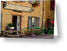 French Auberge Greeting Card