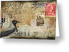 French Bird Postcard Greeting Card