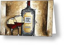 French Bordeaux Original Madart Painting Greeting Card