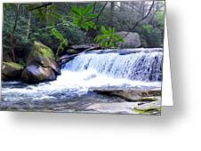 French Broad River Waterfall Greeting Card