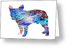 French Bulldog Greeting Card by Watercolor Girl
