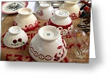 French Cafe Bowls Greeting Card