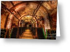 French Champagne Cellar Greeting Card