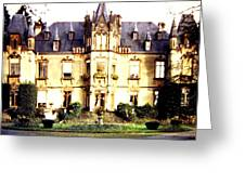 French Chateau 1955 Greeting Card