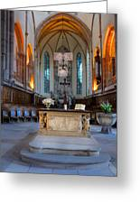 French Church Alter Greeting Card