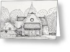 French Church Greeting Card
