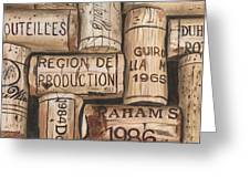 French Corks Greeting Card by Debbie DeWitt