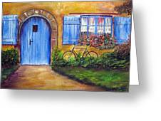 French Cottage Greeting Card