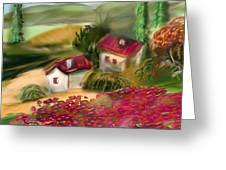 French Country Squared Greeting Card