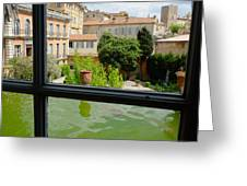French Courtyard Greeting Card