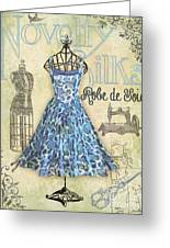 French Dress Shop-b Greeting Card