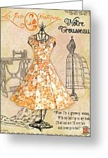 French Dress Shop-c Greeting Card
