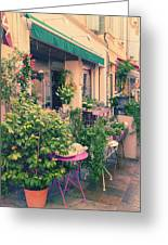 French Floral Shop Greeting Card