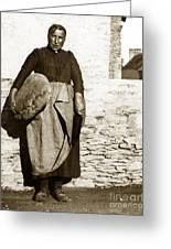 French Lady With A Very Large Bread France 1900 Greeting Card