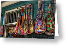 French Market Bags Greeting Card