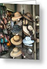 French Market Hats For Sale Greeting Card