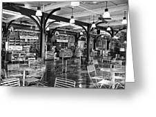 French Market Lights Mono Greeting Card