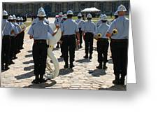 French Military Band Greeting Card