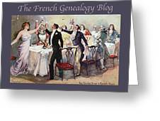 French New Year With Fgb Border Greeting Card
