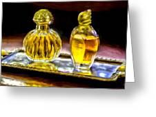 French Perfume Greeting Card