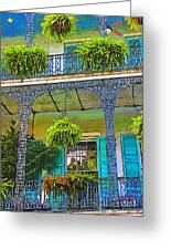 French Quarter Balcony 1 Greeting Card