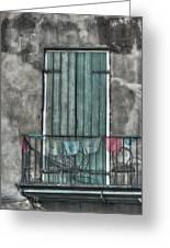 French Quarter Balcony Greeting Card by Brenda Bryant