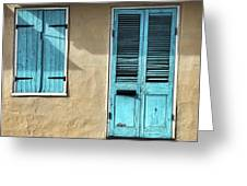 French Quarter Blues Greeting Card