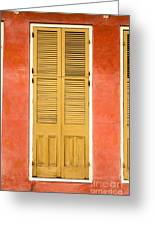 French Quarter Door - 31 Greeting Card