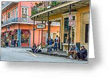French Quarter - Hangin' Out Greeting Card