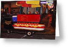 French Quarter Late At Night Greeting Card
