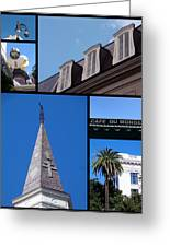 French Quarter Looking Up Greeting Card