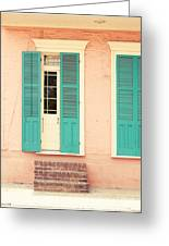 French Quarter Pastel Colours  Greeting Card