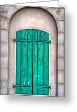 French Quarter Shutters Greeting Card by Brenda Bryant