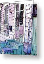 French Quarter Stoop 213 Greeting Card by John Boles