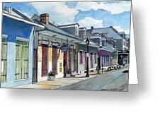 French Quarter Street 211 Greeting Card