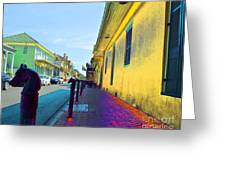 French Quarter Street Greeting Card