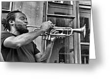 French Quarter Street Musician Greeting Card