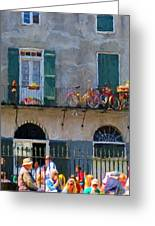 French Quarter Stroll 2 - New Orleans Greeting Card