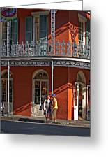 French Quarter Tete A Tete Greeting Card