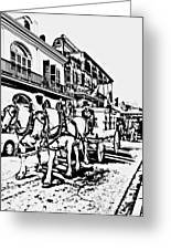 French Quarter - The Final Ride Greeting Card