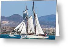 French Shooner Alicante Greeting Card