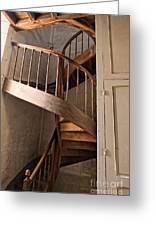 French Spiral Staircase Greeting Card