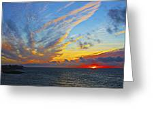 French Sunset Greeting Card
