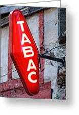 French Tobacconist Sign Greeting Card